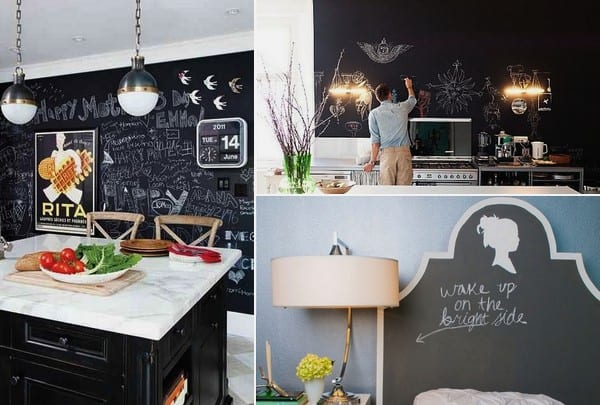 Great ideas for chalkboard in the interior