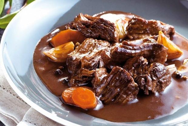 Beef Stew in Wine Sauce