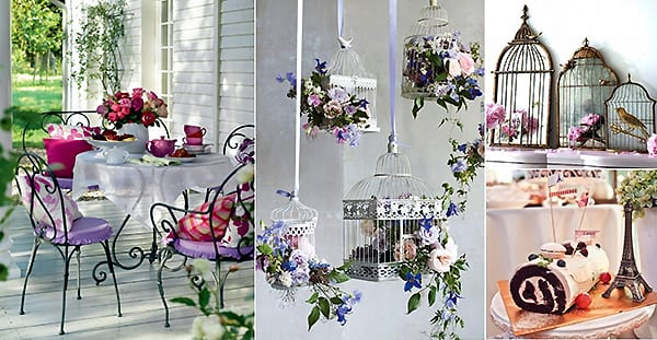 8 ideas for using a bird cage in the interior