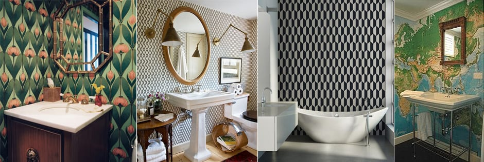 How to choose wallpaper for the bathroom?